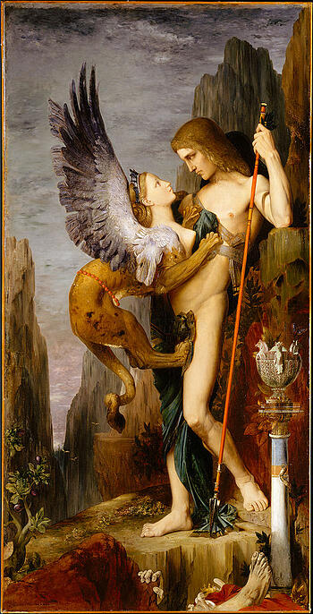 522px Gustave Moreau Oedipus and the Sphinx