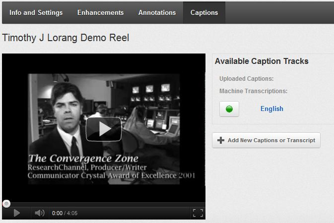 Add captions to your YouTube video