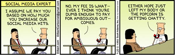 Dilbert talks to Social media guru