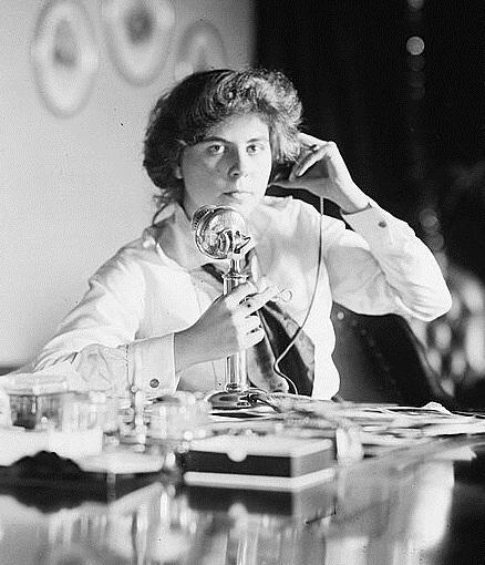 Geneivieve Clark on telephone