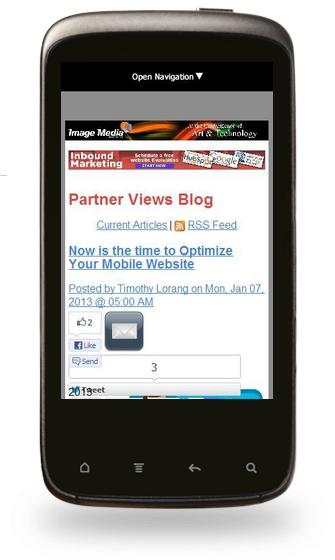 IMP optimize mobile website phone