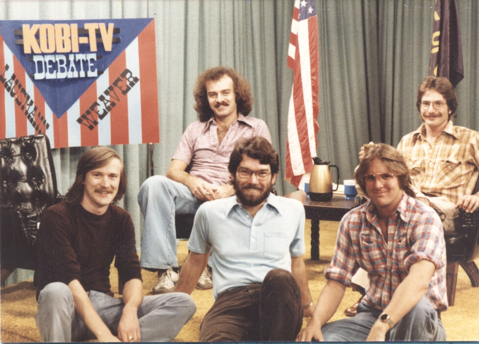 Tim at his first TV job, KOBI-TV