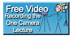 Recording the One Camera Lecture