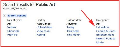 PublicArt Categories