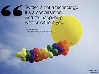 Twitter is a converstation